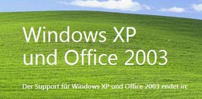 Der Windows XP Support endete - Handeln Sie jetzt!